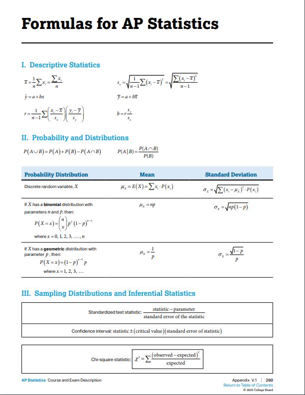 formula ap statistics