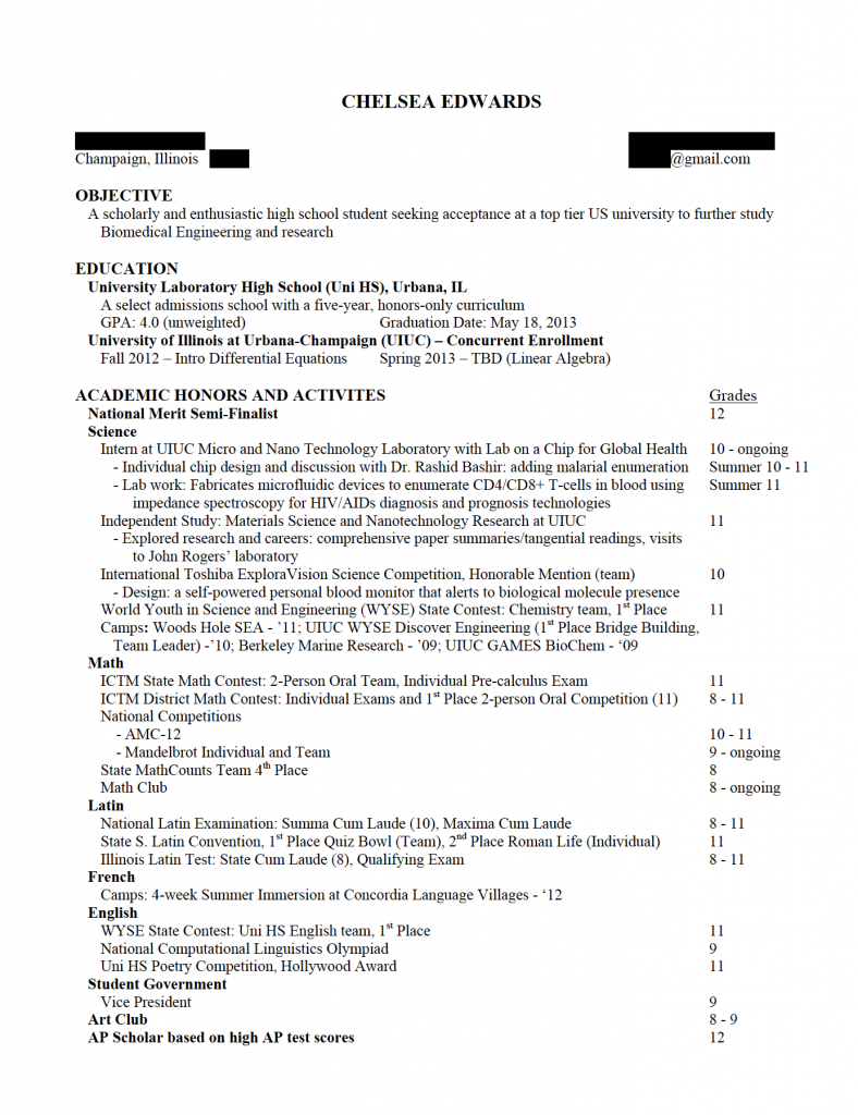 resume example 2